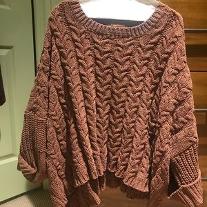 Oversized high-low sweater